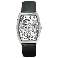 Time Clock Watches Time Of Barrel Style Metal Watch