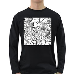 Time Clock Watches Time Of Long Sleeve Dark T Shirts