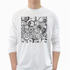 Time Clock Watches Time Of White Long Sleeve T Shirts