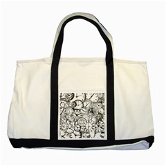 Time Clock Watches Time Of Two Tone Tote Bag