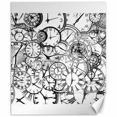 Time Clock Watches Time Of Canvas 8  X 10
