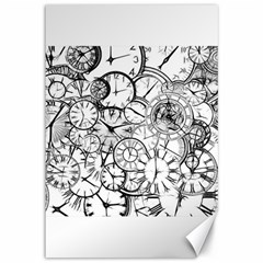 Time Clock Watches Time Of Canvas 12  X 18