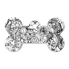 Time Clock Watches Time Of Dog Tag Bone (two Sides)
