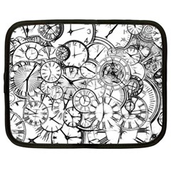 Time Clock Watches Time Of Netbook Case (xl)