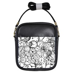Time Clock Watches Time Of Girls Sling Bags