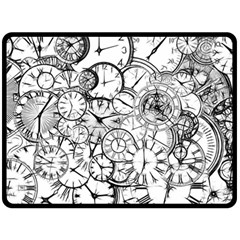 Time Clock Watches Time Of Fleece Blanket (large)