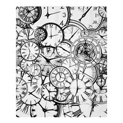 Time Clock Watches Time Of Shower Curtain 60  X 72  (medium)