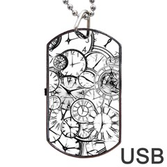 Time Clock Watches Time Of Dog Tag Usb Flash (two Sides)