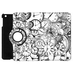 Time Clock Watches Time Of Apple Ipad Mini Flip 360 Case