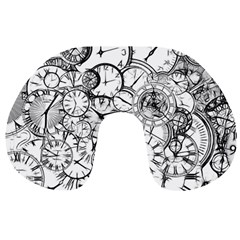 Time Clock Watches Time Of Travel Neck Pillows