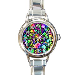 Network Nerves Nervous System Line Round Italian Charm Watch