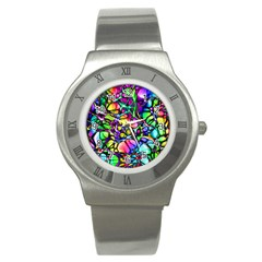 Network Nerves Nervous System Line Stainless Steel Watch