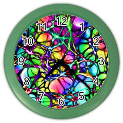 Network Nerves Nervous System Line Color Wall Clocks