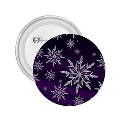 Christmas Star Ice Crystal Purple Background 2 25  Buttons