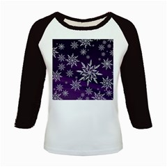 Christmas Star Ice Crystal Purple Background Kids Baseball Jerseys
