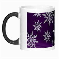 Christmas Star Ice Crystal Purple Background Morph Mugs