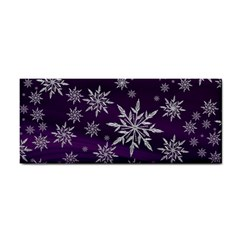 Christmas Star Ice Crystal Purple Background Cosmetic Storage Cases