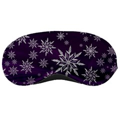 Christmas Star Ice Crystal Purple Background Sleeping Masks
