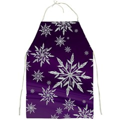 Christmas Star Ice Crystal Purple Background Full Print Aprons