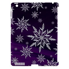 Christmas Star Ice Crystal Purple Background Apple Ipad 3/4 Hardshell Case (compatible With Smart Cover)