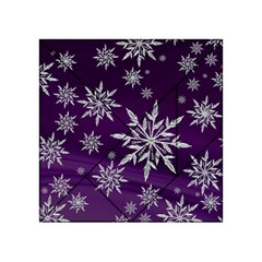 Christmas Star Ice Crystal Purple Background Acrylic Tangram Puzzle (4  X 4 )