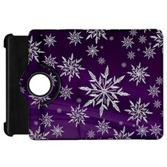 Christmas Star Ice Crystal Purple Background Kindle Fire Hd 7