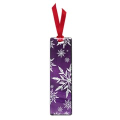 Christmas Star Ice Crystal Purple Background Small Book Marks