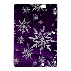 Christmas Star Ice Crystal Purple Background Kindle Fire Hdx 8 9  Hardshell Case