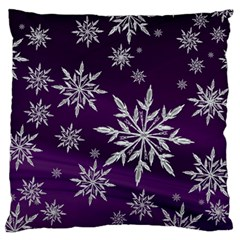 Christmas Star Ice Crystal Purple Background Standard Flano Cushion Case (one Side)