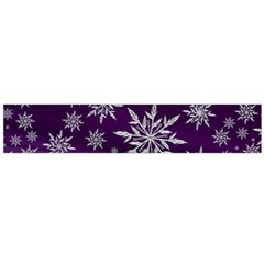 Christmas Star Ice Crystal Purple Background Large Flano Scarf