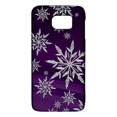 Christmas Star Ice Crystal Purple Background Galaxy S6
