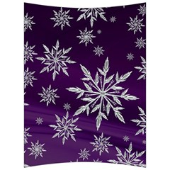Christmas Star Ice Crystal Purple Background Back Support Cushion