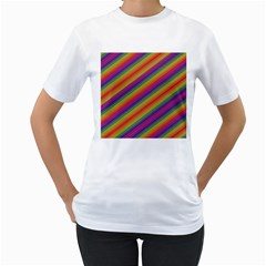 Spectrum Psychedelic Women s T Shirt (white) (two Sided)