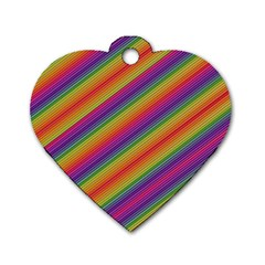 Spectrum Psychedelic Dog Tag Heart (two Sides)