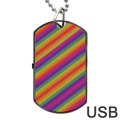 Spectrum Psychedelic Dog Tag Usb Flash (one Side)