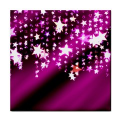 Background Christmas Star Advent Tile Coasters