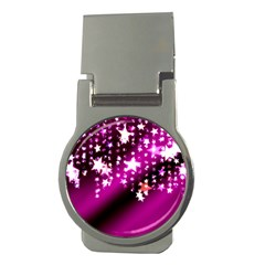 Background Christmas Star Advent Money Clips (round)