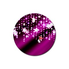 Background Christmas Star Advent Rubber Coaster (round)