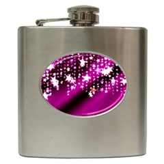 Background Christmas Star Advent Hip Flask (6 Oz)
