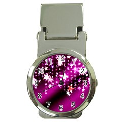 Background Christmas Star Advent Money Clip Watches