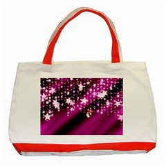 Background Christmas Star Advent Classic Tote Bag (red)
