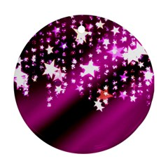Background Christmas Star Advent Round Ornament (two Sides)