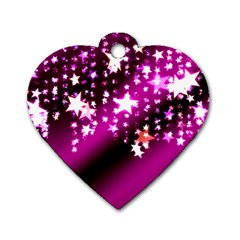 Background Christmas Star Advent Dog Tag Heart (two Sides)
