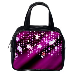 Background Christmas Star Advent Classic Handbags (one Side)