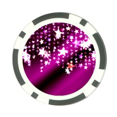 Background Christmas Star Advent Poker Chip Card Guard (10 Pack)