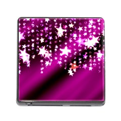 Background Christmas Star Advent Memory Card Reader (square)