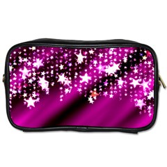 Background Christmas Star Advent Toiletries Bags 2 Side