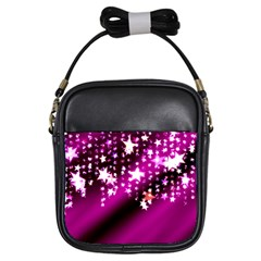 Background Christmas Star Advent Girls Sling Bags