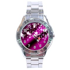 Background Christmas Star Advent Stainless Steel Analogue Watch