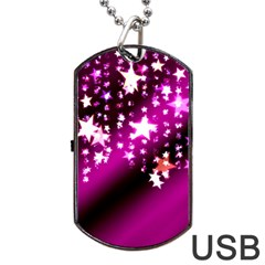 Background Christmas Star Advent Dog Tag Usb Flash (one Side)